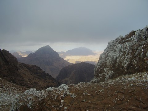 Mt. Sinai is the peak in the distance.  Taken by WP treksanai.
