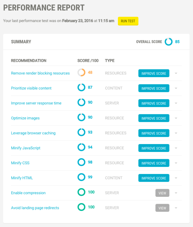 Scan your site for a full performance report and recommendations.