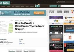 View the WordPress theme tutorial