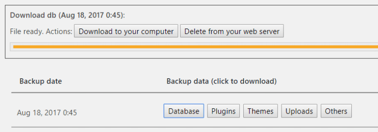 Downloading copies of your backup files.