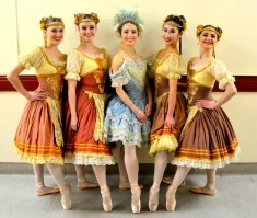 Kat, Lori, Lucy, Yang and myself in our final show of Coppelia