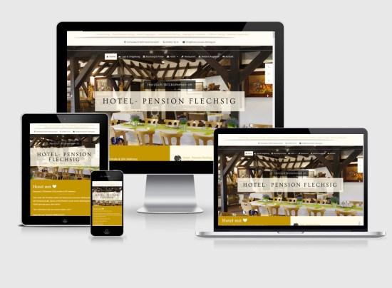Webseite   Hotel- Pension Flechsig