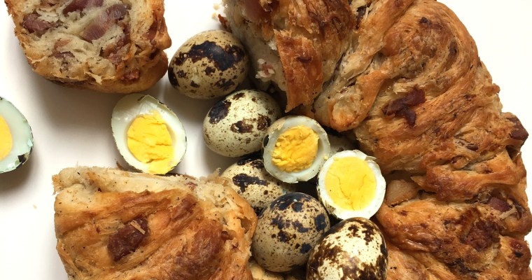 Casatiello Napoletano with Quail Eggs