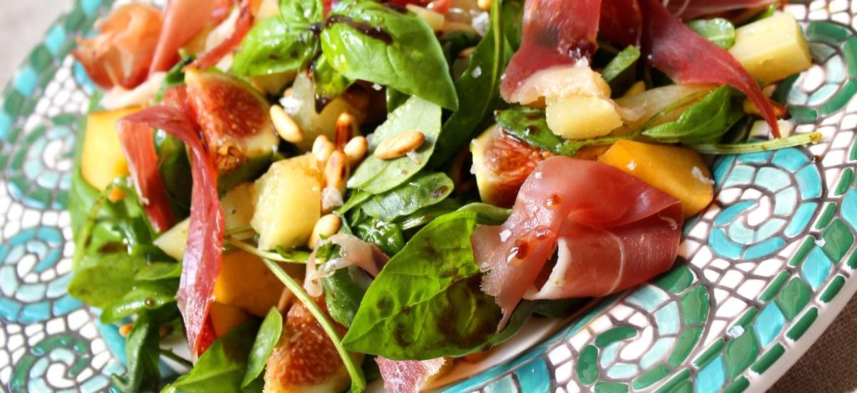 Rocket, Fig & Pecorino Salad with Honey and Balsamic
