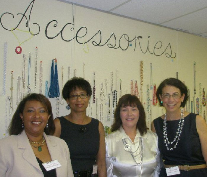 Dress for success staff and our volunteer Debbie