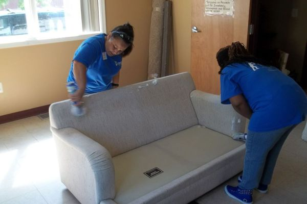 cleaning the new love seat