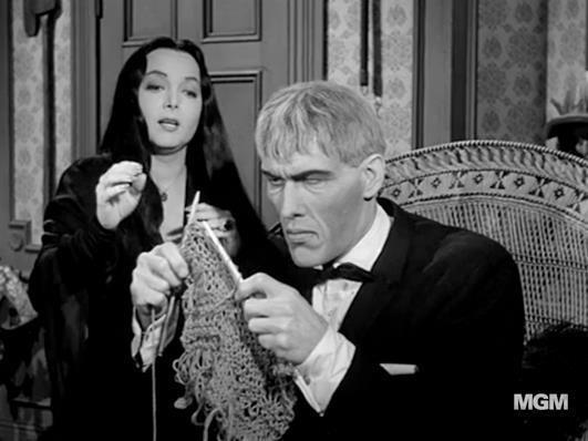 Lurch Addams Family Knitting