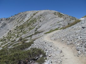 leaving the summit, looking back