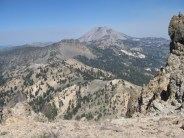 View of Mt. Lassen from the top of Brokeoff Mountain