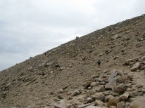 heading toward the summit when it began to rain