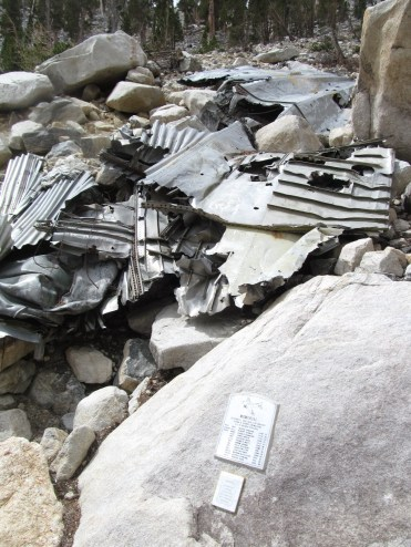 On the way up via Dry Lake at 11,000 ft you pass the remnants of a 1952 plane crash