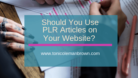 PLR Articles | Should You Use Them?