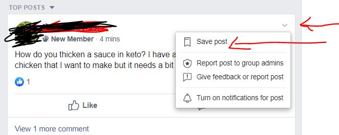 How to save a facebook post