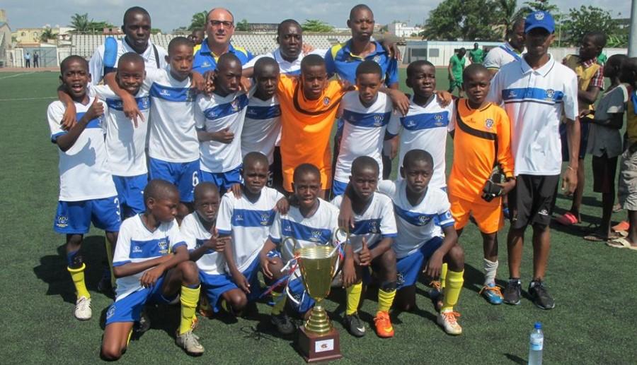 Éxitos de la Academia de Fútbol de Angola. Una escuela de fútbol de éxito.