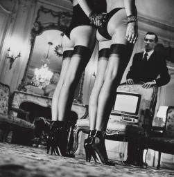 Helmut Newton, Two Pairs of legs in Black Stockings, 1979