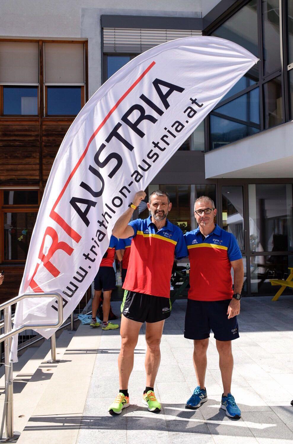 Toni Franco y Kini Carrasco en Kitzbühel
