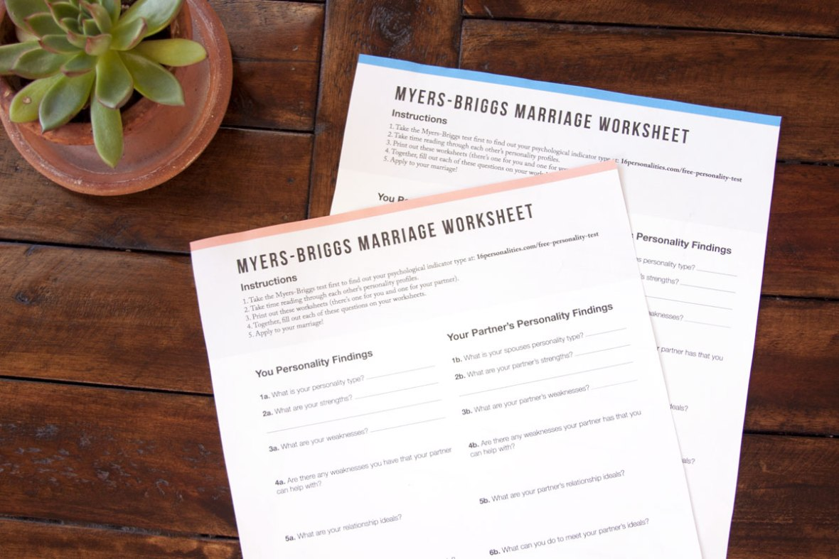 How You Can Use Myers-Briggs to Better Your Marriage