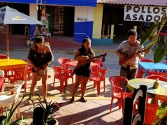 Band in front of Los Almandros