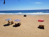 Beach in front of Hotel Estrella de Mar