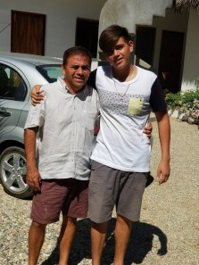 Tino and David, owner and son at Hotel Estrella de Mar
