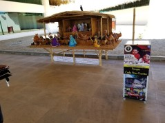 Manger at Huatulco airport, asking for donation.