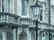 Facades and lamppost in Bloomsbury