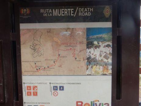 La Paz nach Coroico, Bolivien