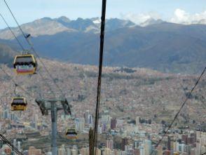 Mit der Seilbahn von Doppelmayr nach El Alto