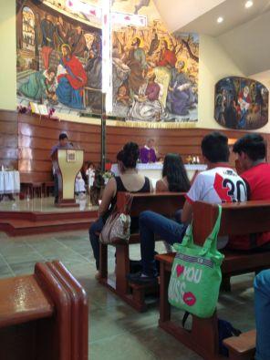 Bei der Messe