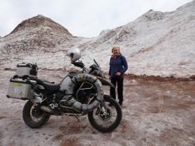 Valle de Luna bei San Pedro de Atacama - Salz, kein Schnee!
