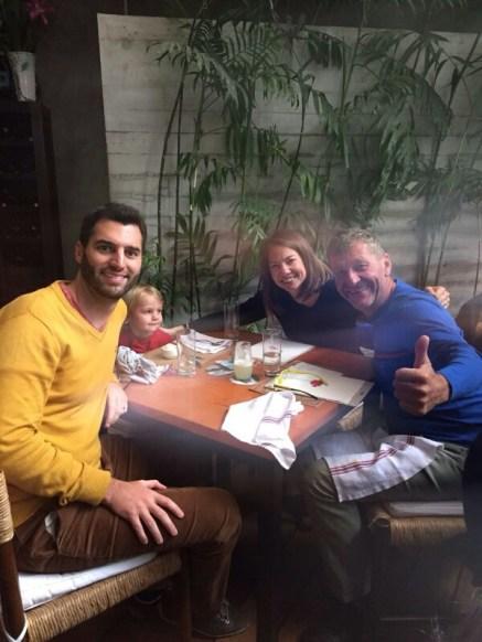 Mit Marco, Caroline und Meli im El Mercado zum Ceviche.