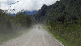 Gemeinsames Biken auf der Carretera Austral - entweder Schlamm oder Staub ...