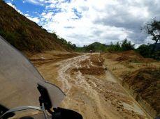In der Nacht hat es stark geregnet - Schlammschlacht von Zumba bis Vilcabamba