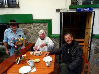Mit Gerd und Harald im Hostal Zentrum, Quito
