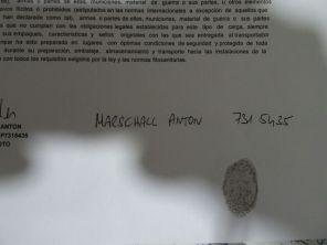 Alle öffentlichen Verträge sind in Kolumbien mit einem Fingerprint zu versehen!!!