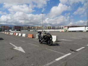 Warten auf die Fähre in Algeciras