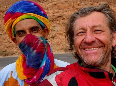 Mit Ibrahim - nach eigener Beschreibung - Berber in der Ziz Schlucht