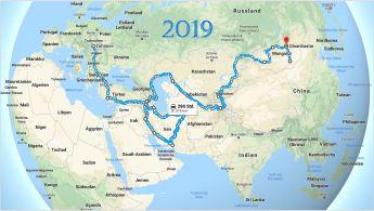Grobplan - schätze es werden mehr als 30.000 km bis in die Mongolei werden.