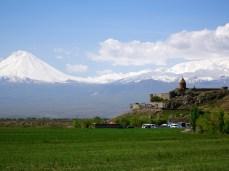 Die beiden Ararats und das Kloster Chor Virap