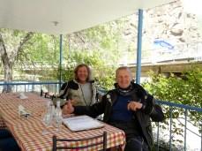 Kaffeepause an der Straße von Ararat zum Col de Selim