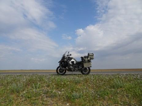 Riesige Ebene hin zum Wolgadelta