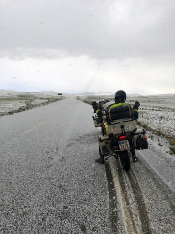 Dichtes Schneetreiben auf dem Weg nach Cusco