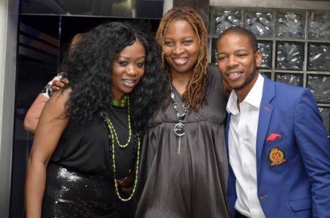 Toni Payne, Ngozi Omambala, and Presenter Koch