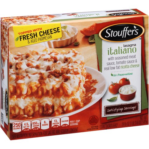 Food Review: Stouffers Lasagna with Meat and Sauce