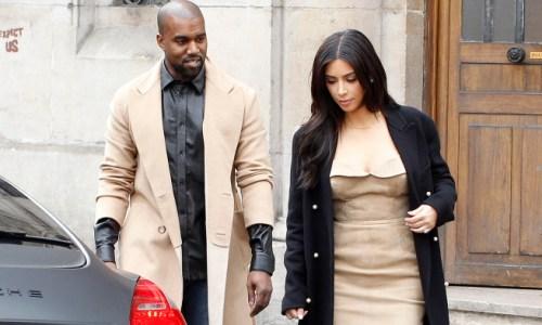 Kim Kardashian and Kanye West seen leaving Martin Margiela in Paris