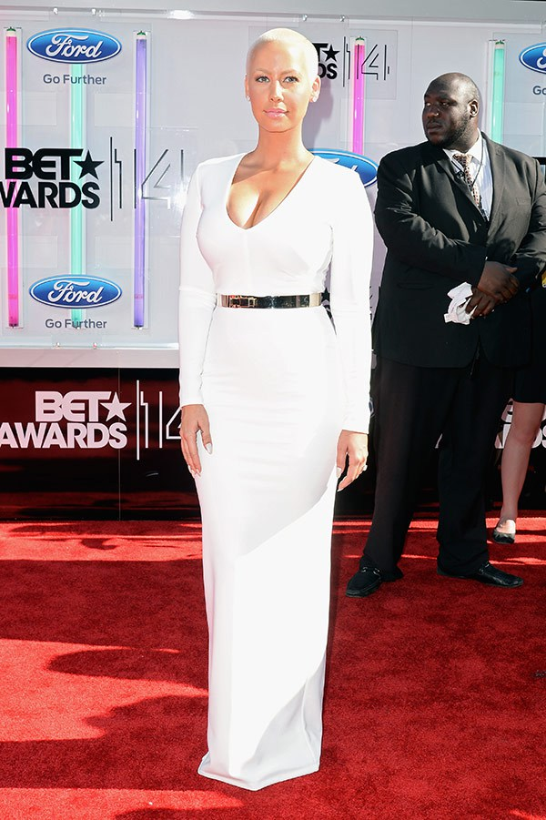 1 2014 bet red carpet amber rose