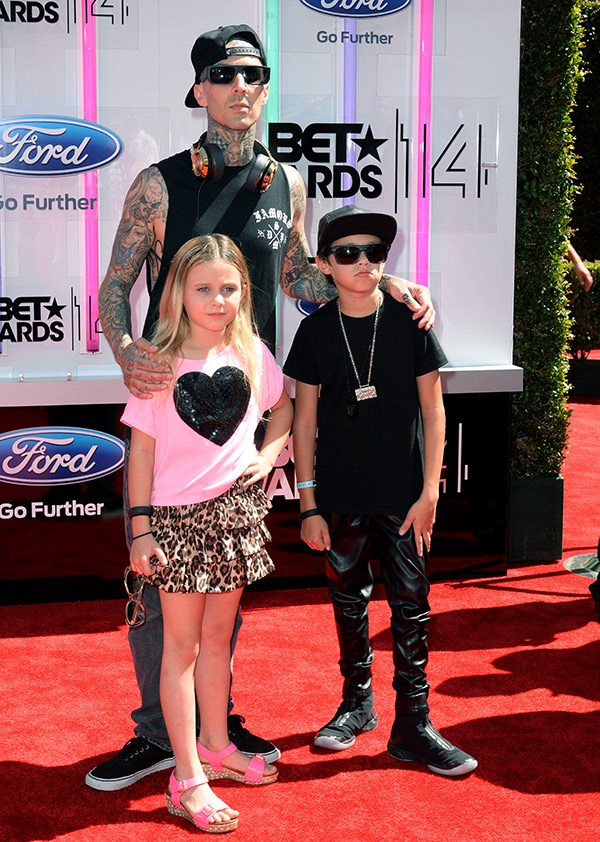 1 2014 bet red carpet travis barker