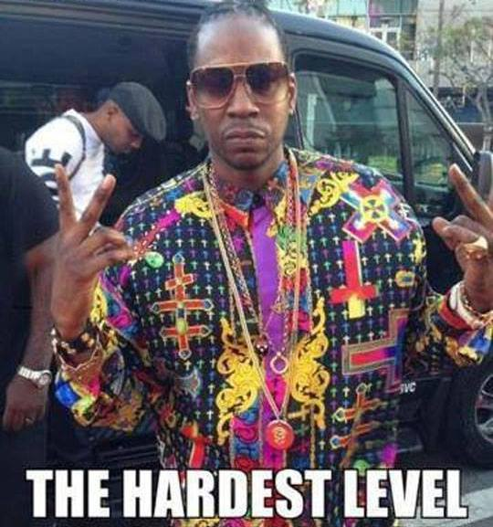 Picture of Rapper 2Chainz looking like the hardest level in Candy Crush Saga -LMAO!