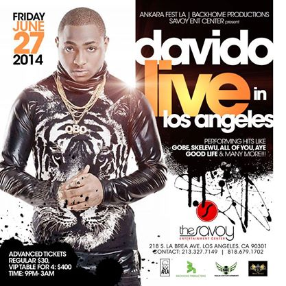 Event in Los Angeles, CA June 27 – Davido LIVE in Los Angeles
