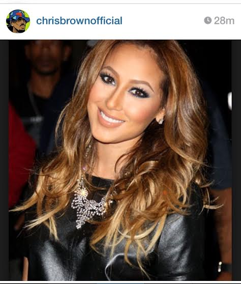 chris brown Adrienne Bailon 2